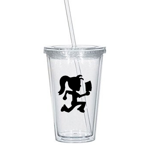 ICP Tumbler Cup Hatchetgirl Hatchet Man Hatchetman Hatchet Girl Juggalo Juggalette Insane Pop Culture Clown Nerd Geek Free Shipping Merch Massacre