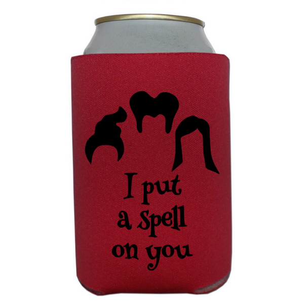 Witch Hocus Pocus Can Cooler Sleeve Bottle Holder Spell on You Horror Free Shipping Merch Massacre