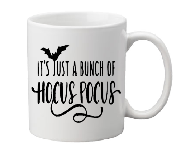 Hocus Pocus Mug Coffee Cup White It's Just a Bunch of Amuck I Put a Spell on You Sanderson Sisters Witch Witchcraft Salem Free Shipping Merch Massacre