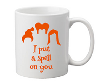 Hocus Pocus Mug Coffee Cup White I Put a Spell on You Sanderson Sisters It's Just a Bunch of Amuck Witch Witchcraft Salem Free Shipping Merch Massacre
