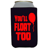 It Pennywise You'll Float Too Can Cooler Sleeve Bottle Holder Clown Free Shipping Merch Massacre