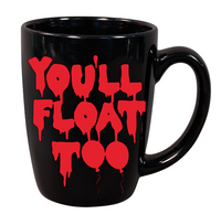 It Mug Coffee Cup Black You'll Float Too Pennywise Balloon Dancing Killer Clown Slasher Supernatural Horror Halloween Free Shipping Merch Massacre