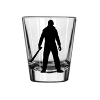 Friday the 13th Shot Glass Jason Voorhees Camp Crystal Lake Killer Slasher Zombie Supernatural Horror  Halloween Free Shipping Merch Massacre