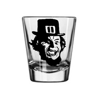 Leprechaun Shot Glass Slasher Killer Gold Nineties Horror Movie Irish Supernatural Paranormal Funny Nerd Geek Halloween Free Shipping Merch Massacre