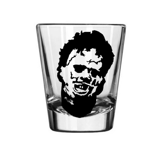 Texas Chainsaw Massacre Shot Glass Leatherface Slasher Serial Killer Horror Halloween Free Shipping Merch Massacre