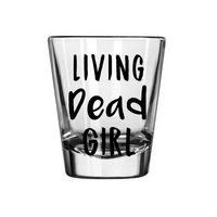Living Dead Girl Shot Glass Classic Horror Zombie Zombies Undead Movie Science Fiction Sci Fi Funny Nerd Geek Halloween Free Shipping Merch Massacre