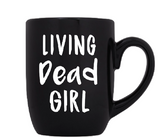 Living Dead Girl Mug Coffee Cup Black Zombie Undead Ghoul Killer Slasher Classic Horror Movies Sci Fi Funny LOL Halloween Free Shipping Merch Massacre