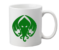 Lovecraft Mug Coffee Cup White Cthulhu HP Necronomicon Elder Sign Arkham Miskatonic Weird Tales Sci Fi Horror Halloween Free Shipping Merch Massacre