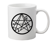Lovecraft Mug Coffee Cup White Necronomicon Elder Sign Cthulhu HP Arkham Miskatonic Weird Tales Sci Fi Horror Halloween Free Shipping Merch Massacre