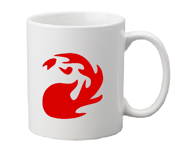 Gamer Magic Mug Coffee Cup White Red Mana Card Game RPG Role Playing Dungeons Dragons Fantasy Tabletop Gaming Free Shipping Merch Massacre