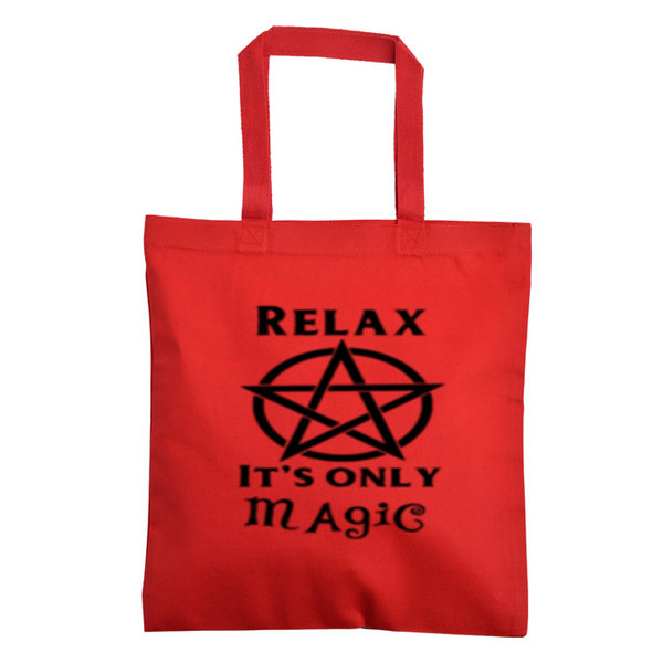 The Craft Canvas Tote Bag Witch Relax It's Only Magic Horror Free Shipping Merch Massacre