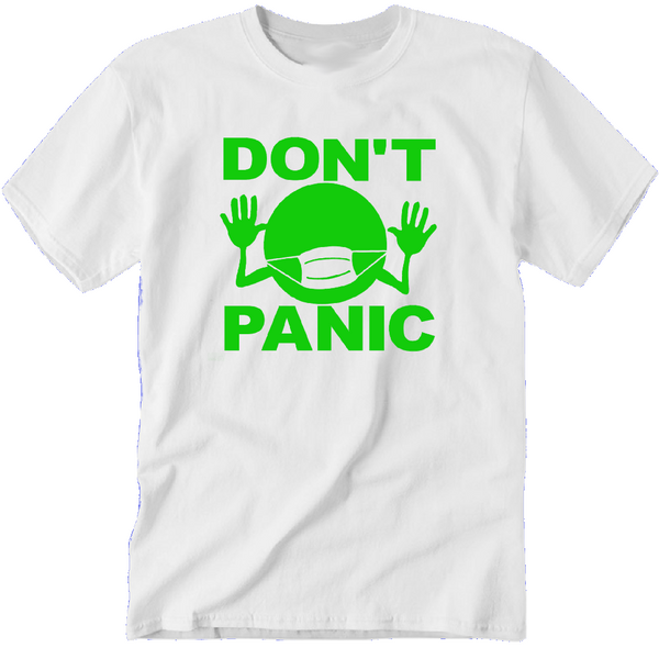 Hitchhiker's Guide to the Galaxy T Shirt Adult Clothes S-5X Don't Panic Douglas Adams Sci Fi Science Fiction Funny Unisex Free Shipping Merch Massacre