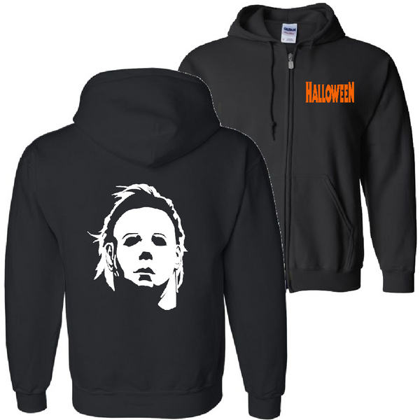 Halloween Zip Up Hoodie Sweatshirt Unisex S-5X Adult Michael Myers Haddonfield Slasher Babysitter Serial Killer Horror Free Shipping Merch Massacre