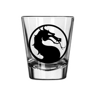 Gamer Mortal Kombat Shot Glass Video Fighter Combat Finish Him Violent Game Gaming Tabletop Retro Nerd Geek Halloween Free Shipping Merch Massacre
