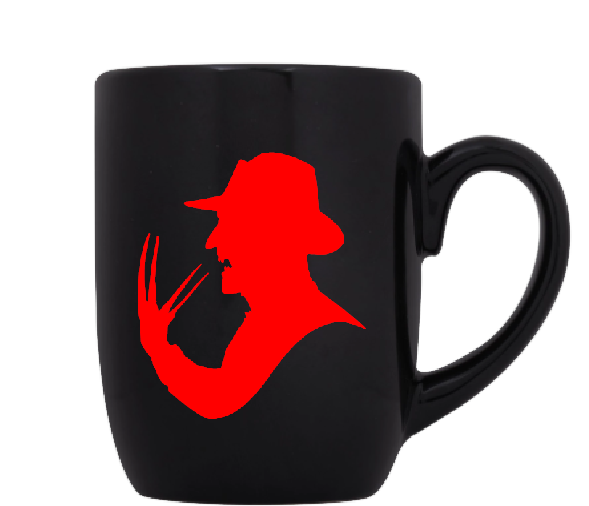 Nightmare on Elm Street Mug Coffee Cup Black Freddy Krueger Slasher Killer Claws Glove Halloween Horror Sci Fi Funny LOL Free Shipping Merch Massacre