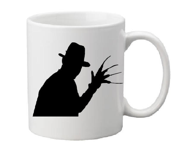 Nightmare on Elm Street Mug Coffee Cup White Freddy Krueger Glove Slasher Serial Killer Dream Warriors Horror Halloween Free Shipping Merch Massacre