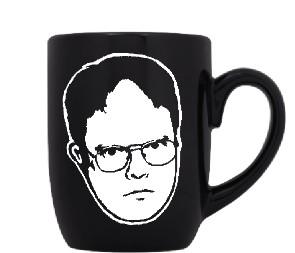 Office Mug Coffee Cup Black Dwight Schrute Dunder Mifflin Michael Jim Free Shipping Merch Massacre