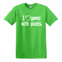 Gamer T Shirt Adult Clothes S-5X I Love Games With Pixels Retro Old School Video Game Streamer Gaming Nerd Geek Unisex Free Shipping Merch Massacre