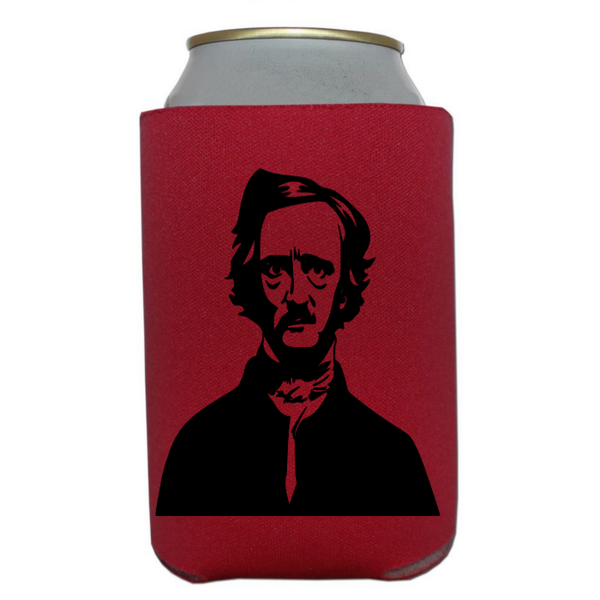 Edgar Allen Poe Can Cooler Sleeve Bottle Holder Raven Free Shipping Merch Massacre