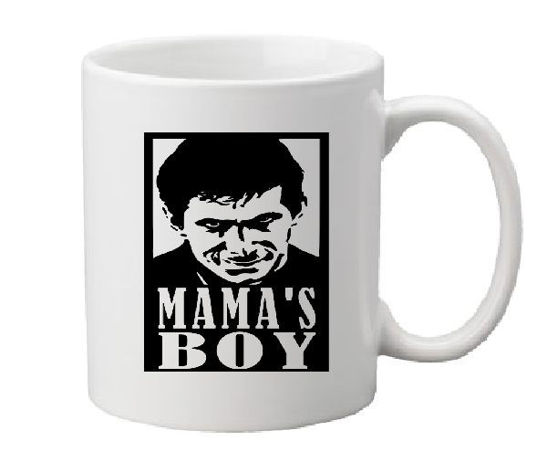 Psycho Mug Coffee Cup White Norman Bates Motel Mama's Boy Slasher Killer Mother Hitchcock Horror Halloween Free Shipping Merch Massacre
