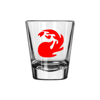 Gamer Magic Red Mana Shot Glass Gaming Tabletop Role Playing Game Card Fantasy Dragons Dungeons Nerd Geek Halloween Free Shipping Merch Massacre