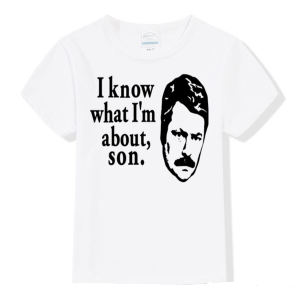 Parks and Rec About Son T Shirt Kids Youth Toddler Clothing 2T-Youth XL Ron Swanson Merch Massacre Free Shipping