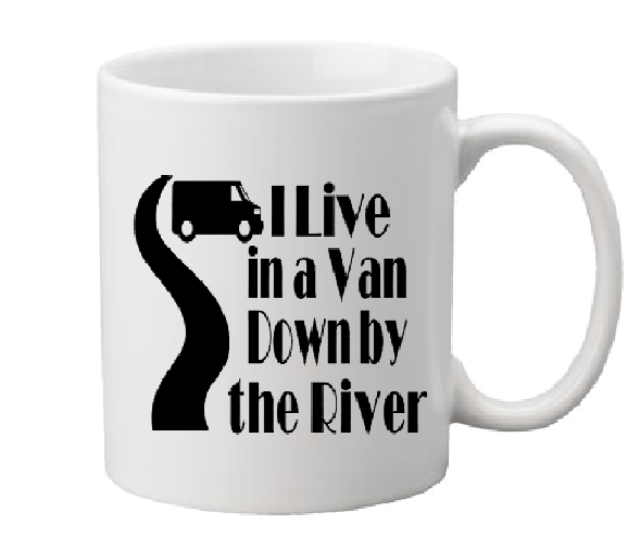 Tommy Boy Mug Coffee Cup White I Live In A Van Down By The River Holy Schnikeys! SNL Funny Quote LOL Free Shipping Merch Massacre