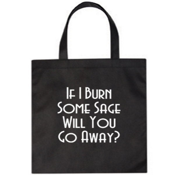 Witch Canvas Tote Bag Burn Sage Go Away Horror Free Shipping Merch Massacre
