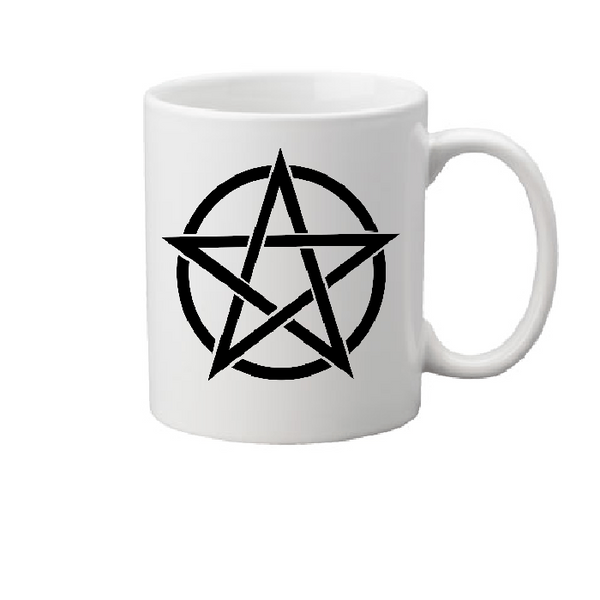 Wicca Mug Coffee Cup White Witch Wiccan Pentagram Star Magic Magick Witchcraft Halloween Free Shipping Merch Massacre