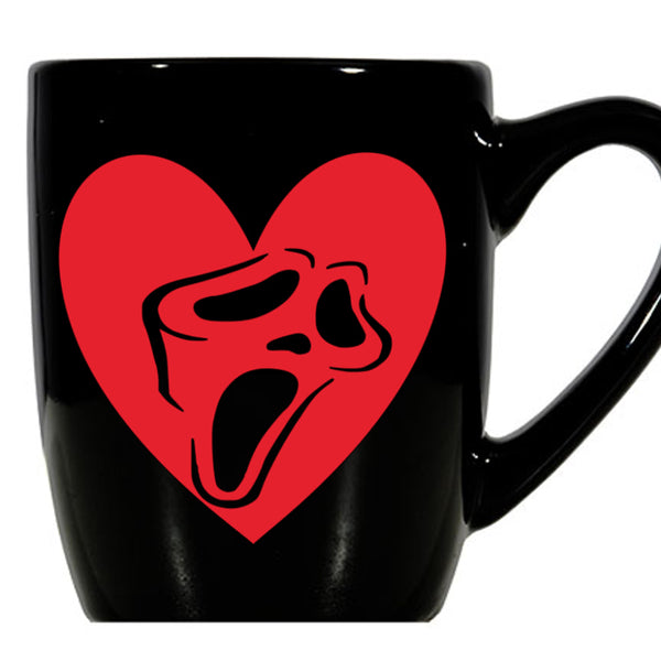 Scream Mug Coffee Cup Black Scary Movie Stab Slasher Serial Killer Sidney Horror Nerd  Geek Halloween Free Shipping Merch Massacre