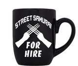 Shadowrun Mug Coffee Cup Black Street Samurai For Hire Decker Slot Off Frag Face RPG Role Playing Video Game Sci Fi Free Shipping Merch Massacre