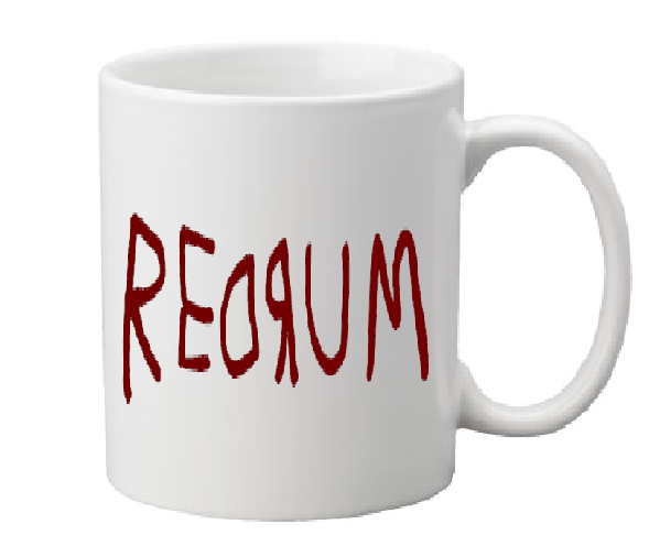 Shining Mug Coffee Cup White Redrum Overlook Hotel Jack Torrence Red Rum Murder Slasher Killer Psycho Free Shipping Merch Massacre