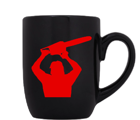 Texas Chainsaw Massacre Mug Coffee Cup Black Leather Horror Serial Killer Slasher Psycho Saw Is Family Halloween Free Shipping Merch Massacre