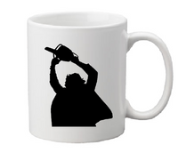 Texas Chainsaw Massacre Mug Coffee Cup White Leather Slasher Grindhouse Cannibal Horror Halloween Macabre Free Shipping Merch Massacre