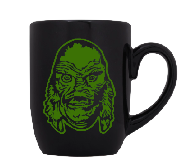 Universal Monsters Mug Coffee Cup Black Creature From the Black Lagoon Gill Man Gillman Classic Horror Free Shipping Merch Massacre