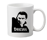 Universal Monsters Mug Coffee Cup White Dracula Count Vampire Transylvania Vampyre Bela Lugosi Classic Horror Halloween Shipping Merch Massacre