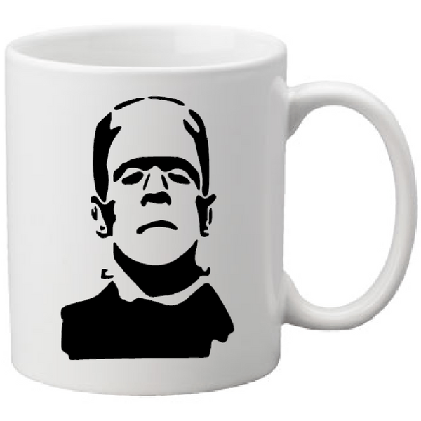 Universal Monsters Mug Coffee Cup White Frankenstein Monster Bride of Doctor Dr. Boris Karloff Classic Horror Halloween Shipping Merch Massacre