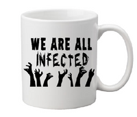 Walking Dead Mug Coffee Cup White We Are All Infected Lucille is Thirsty Walker Zombie Undead Living Negan Horror Halloween Shipping Merch Massacre