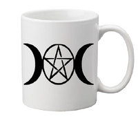 Wicca Mug Coffee Cup White Witch Wiccan Pentagram Star Magic Magick Witchcraft Horror Halloween Shipping Merch Massacre