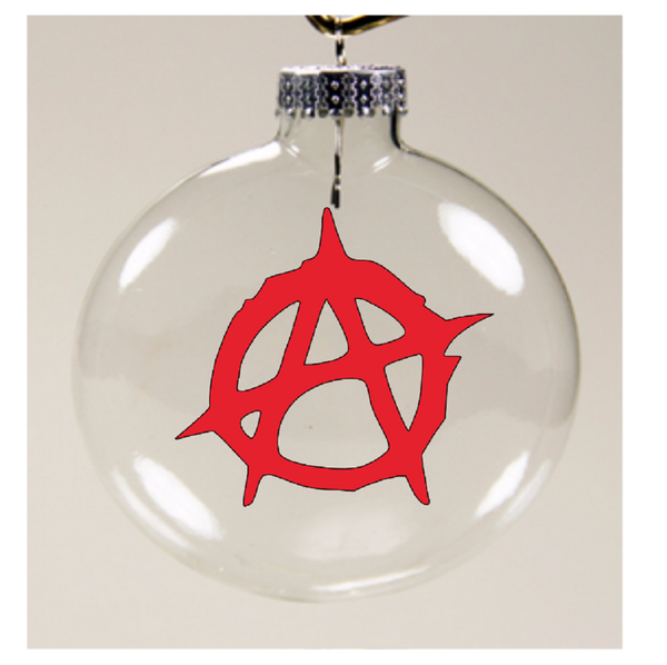 Anarchy Punk Ornament Christmas Glass Disc Holiday Free Shipping Merch Massacre