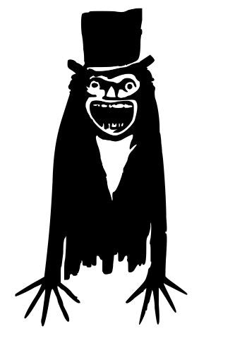 The Babadook Vinyl Decal Horror Sticker Computer Free Shipping Merch Massacre