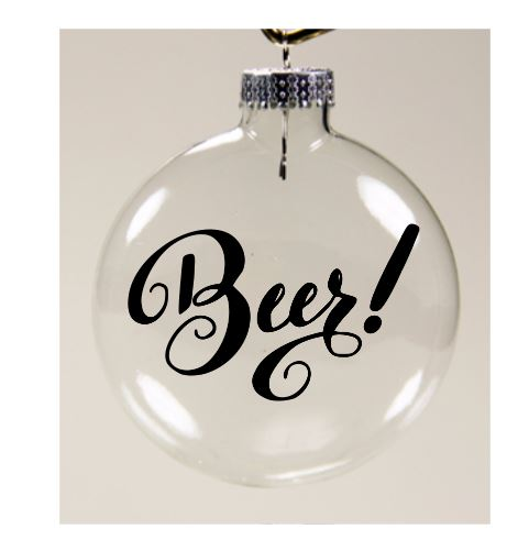 Beer Ornament Christmas Glass Disc Holiday Free Shipping Merch Massacre