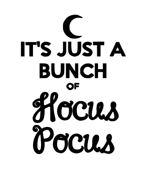 Hocus Pocus Vinyl Decal Sticker Bunch of Witch Witchcraft Wicca Wiccan Coven Spirit Horror Nerd Geek Halloween Free Shipping Merch Massacre