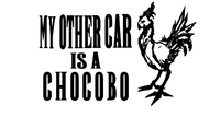 Other Car is a Chocobo Final Fantasy Vinyl Decal Sticker Video Game Fantasy Free Shipping Merch Massacre