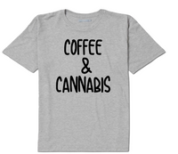 Coffee and Cannabis T Shirt Adult Clothes S-5X Unisex Pro Weed Pot Free Shipping Merch Massacre