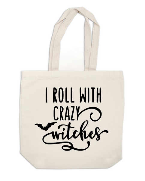 Witch Canvas Tote Bag Roll with Crazy Witches Horror Free Shipping Merch Massacre