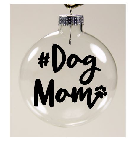 Dog Mom Dog Ornament Christmas Glass Disc Dog Lover Holiday Free Shipping Merch Massacre
