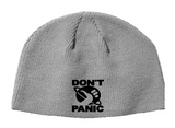 Hitchhikers Guide to the Galaxy Beanie Knitted Hat Don't Panic Sci Fi Horror Free Shipping Merch Massacre