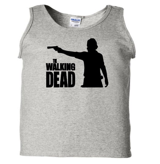 Walking Dead Rick Tank Top Sleeveless Unisex Shirt Zombies Adult Clothes S-2X Horror Merch Massacre Free Shipping