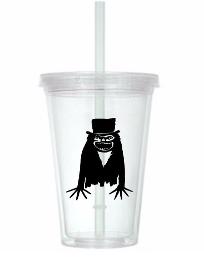 Babadook Tumbler Cup Horror Slasher Killer Supernatural Spirit Scary Paranormal Ghosts Sci Fi Science Fiction Halloween Free Shipping Merch Massacre
